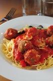 Beef ball spaghetti Stock Image