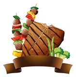 Beef and banner Royalty Free Stock Photo