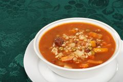 Beef barley soup Stock Photography