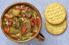 Beef Barley soup Stock Images