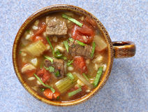 Beef Barley soup Royalty Free Stock Photography