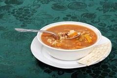 Beef barley soup starter Stock Image