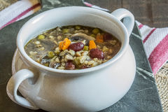 Beef and Barley Soup Stock Image