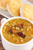 Beef and barley soup Royalty Free Stock Images