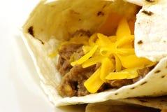 Beef and Bean Burritos Royalty Free Stock Photos