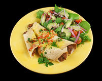 Beef And Bean Enchiladas Royalty Free Stock Image