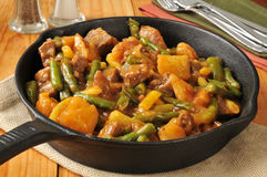 Beef, bean and potato skillet dinner Royalty Free Stock Photo