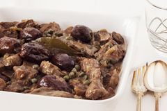 Beef with Beer and Dates Stock Image