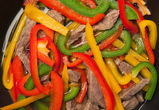 Beef and bell peppers Royalty Free Stock Photography