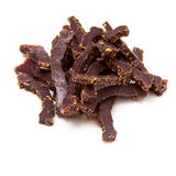 Beef Biltong strips Royalty Free Stock Photos