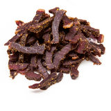 Beef Biltong strips Royalty Free Stock Images