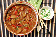 Beef in black bean sauce Royalty Free Stock Images