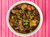 Beef and Black Bean Sauce With Red Peppers Stock Photos