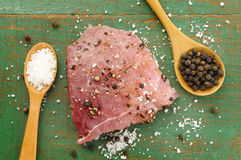 Beef with black pepper and salt Royalty Free Stock Image
