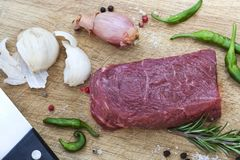 Beef on a board Royalty Free Stock Images