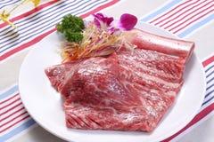 Beef bone. China Korea food background Royalty Free Stock Image