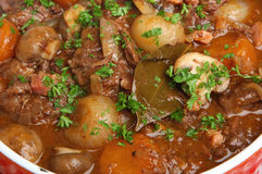 Beef Bourguignon, French Casserole Stew Stock Image