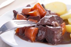 Beef bourguignon stew Stock Photo