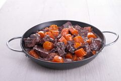Beef bourguignon stew Royalty Free Stock Photography