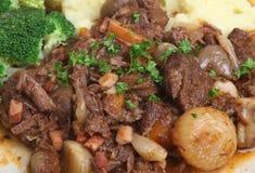 Beef Bourguignon Stew Stock Image