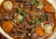 Beef Bourguignon Stew Close Up Royalty Free Stock Photography