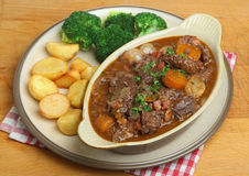 Beef Bourguignon Stew Dinner Stock Photo