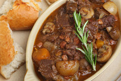 Beef Bourguignon, Traditional French Stew Stock Photos