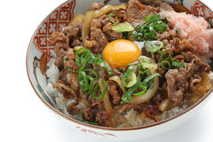 Beef bowl , japanese food Stock Photo