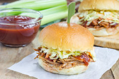 Beef brisket sliders Stock Photo