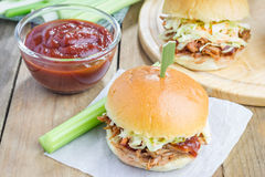 Beef brisket sliders Royalty Free Stock Photo