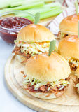 Beef brisket sliders Royalty Free Stock Photos