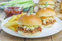 Beef brisket sliders Royalty Free Stock Photography