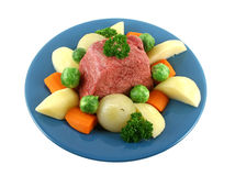 Beef Brisket And Vegetables royalty free stock photo