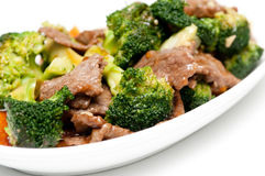 Beef with broccoli Stock Photos
