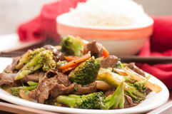 Beef with broccoli Stock Images