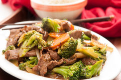 Beef with broccoli Royalty Free Stock Photos