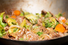 Beef with broccoli Stock Photography