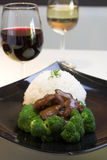 Beef Broccoli with Rice Stock Photography