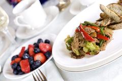 Beef and broccoli stirfry Royalty Free Stock Photos