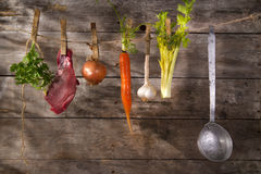 Beef broth Stock Images