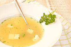 Beef broth Royalty Free Stock Photos