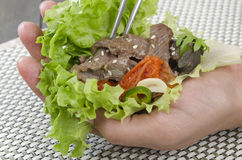 Beef Bulgogi Wrap Stock Photos