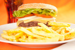 Beef burger Stock Images