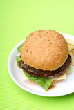 Beef burger Stock Photos