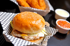 Beef Burger Royalty Free Stock Photo