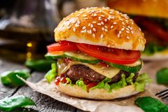 Beef burger Royalty Free Stock Photos