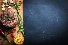 Beef Burger Cutlet With Herbs And Spices Stock Image