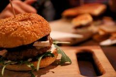 Beef burger royalty free stock photos