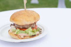 Beef burger with herb butter Stock Photography