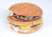 Beef burger inside top Stock Photos